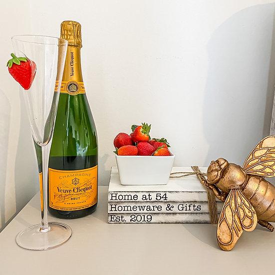 Strawberry Champagne Flute