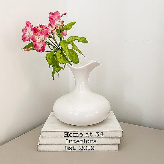 Jasmine Vase Gloss White
