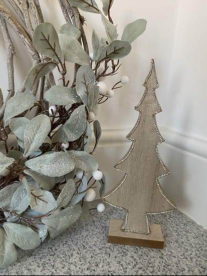 Glitter/Diamante Edged Wooden Tree