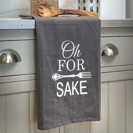 'For Forks Sake' Tea Towel