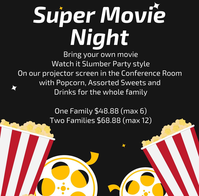Black Popcorn Movie Night Invitation (2)
