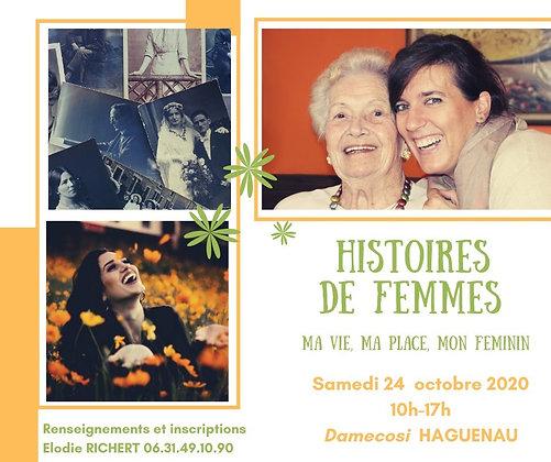 Histoires de femmes: ma vie, ma place, mon Féminin 24/10/2020