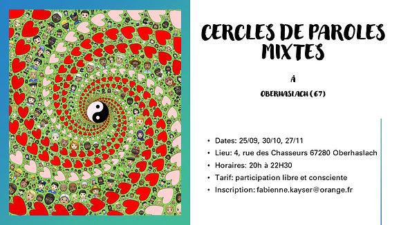 Cercle de paroles Mixte 28/10/20