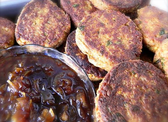 Tofu Fritters (lightly grilled)  V  5/pkg