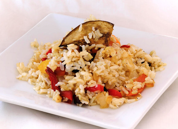 Brown Rice with Zucchini , V & GF