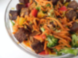 Baked Tempeh Thai Salad