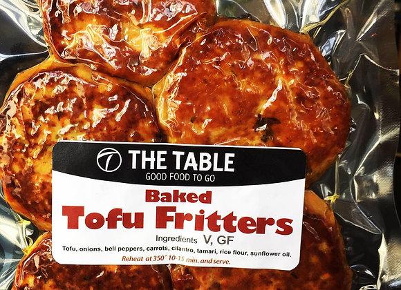 Tofu Fritters (Baked) X 5  V, GF