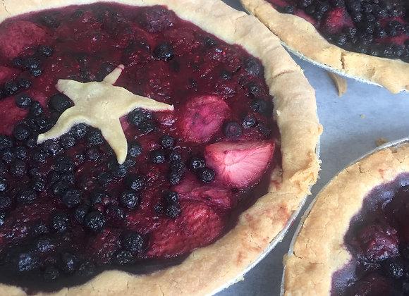 9'' Mixed Berry Pie  V, GF