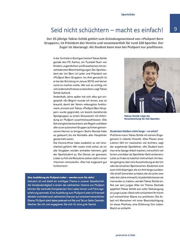 Interview Tobias plusPunkt (04.2020)
