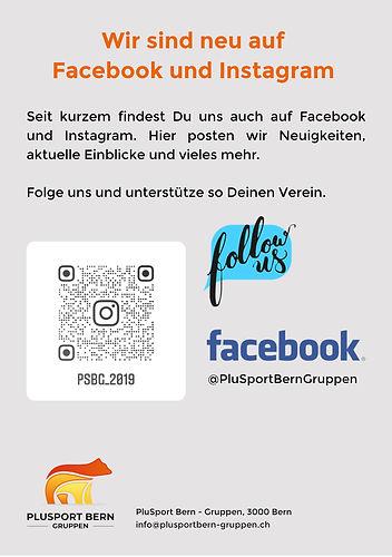 Wir sind neu auf Facebook und Instagram