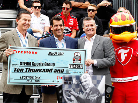 STEAM Sports Group Recognized by Firestone for its STEAM Program with Honda's Verizon IndyCar Series