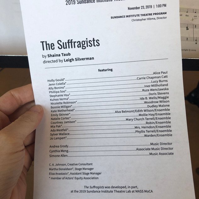 the suffragsists @ sundance
