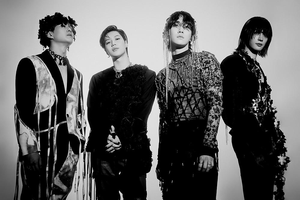 """Grupo de k-pop SHINee, em foto promocional para o seu 7º álbum """"Don't Call Me"""""""
