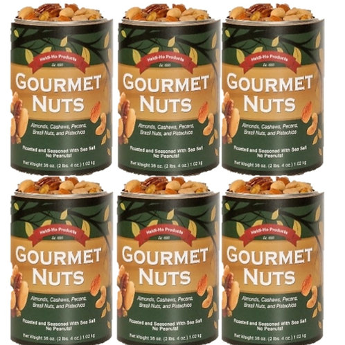 Gourmet Nuts -1 Case (6 Cans) (2.25lb/can) $150.00 S&H included