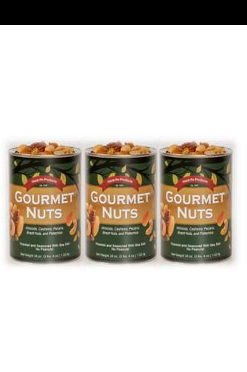Gourmet Nuts- Half Case (3 Cans) (2.25lbs/can) $75.00 S&H  included