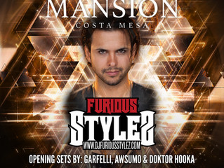 Hollywood Heavy Hitter Furious Stylez Headlining this July 29th ONLY @ Mansion Nightclub Costa Mesa.