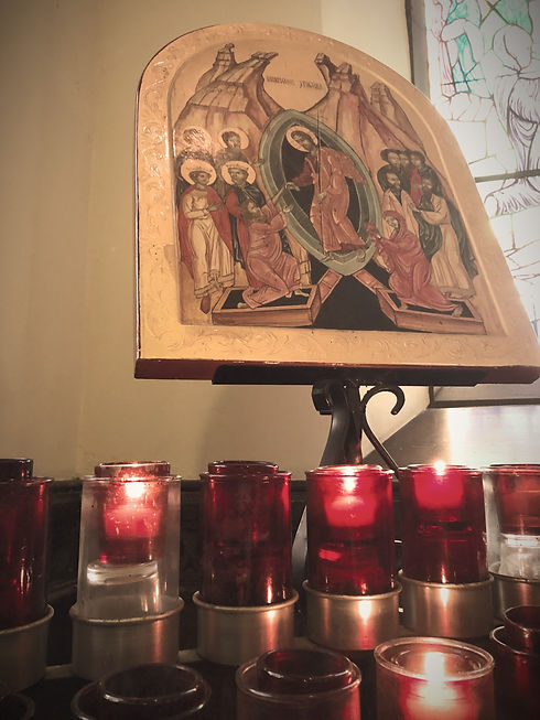 Candles and Icon