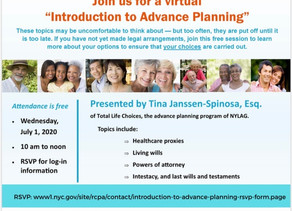 Introduction to Advance Planning (July 1, 2020)