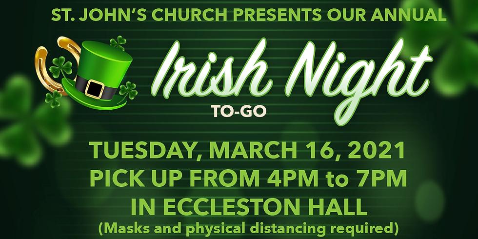 Irish Night Dinner