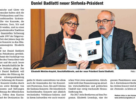 Daniel Badilatti ist neuer Präsident der Sinfonia Engiadina