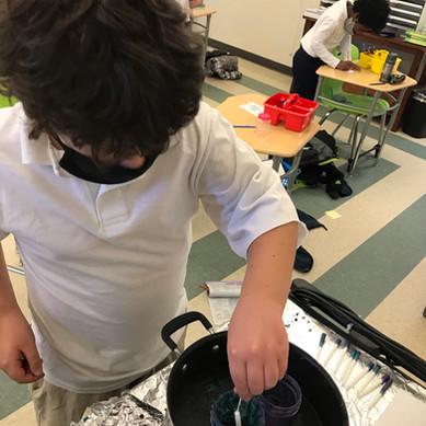 Chanukah Candle Making