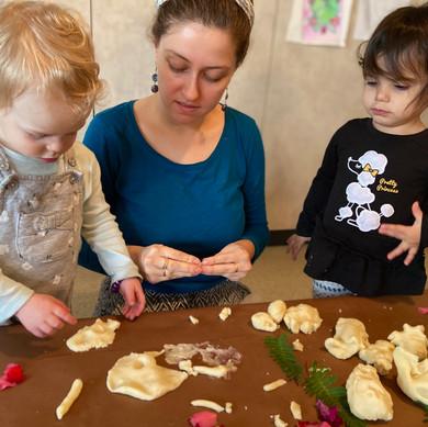 Green Preschool: Flower Dough