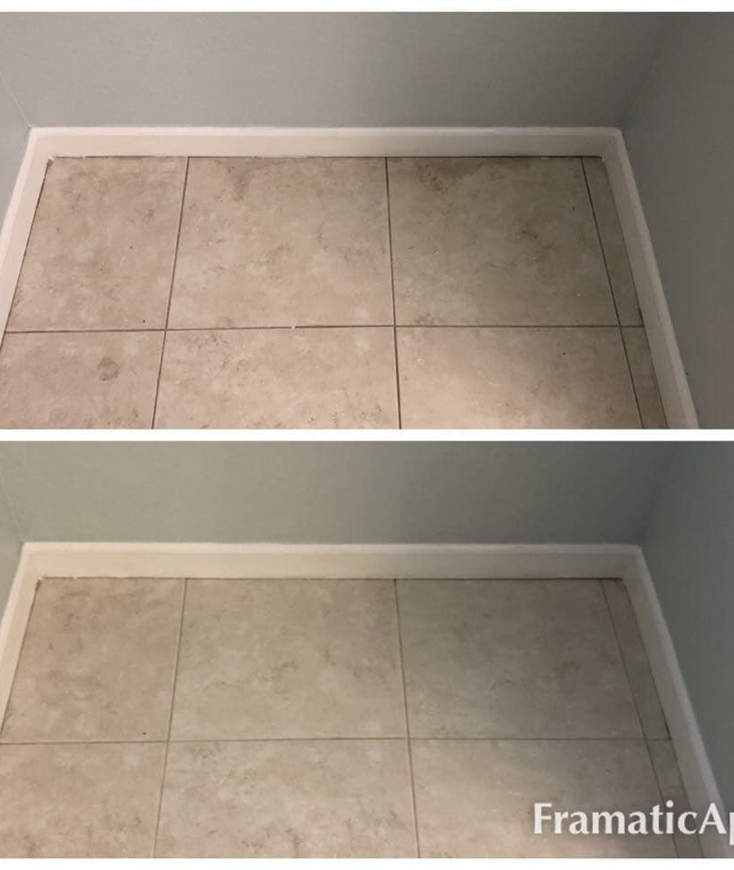 Dirty vs clean tile and grout