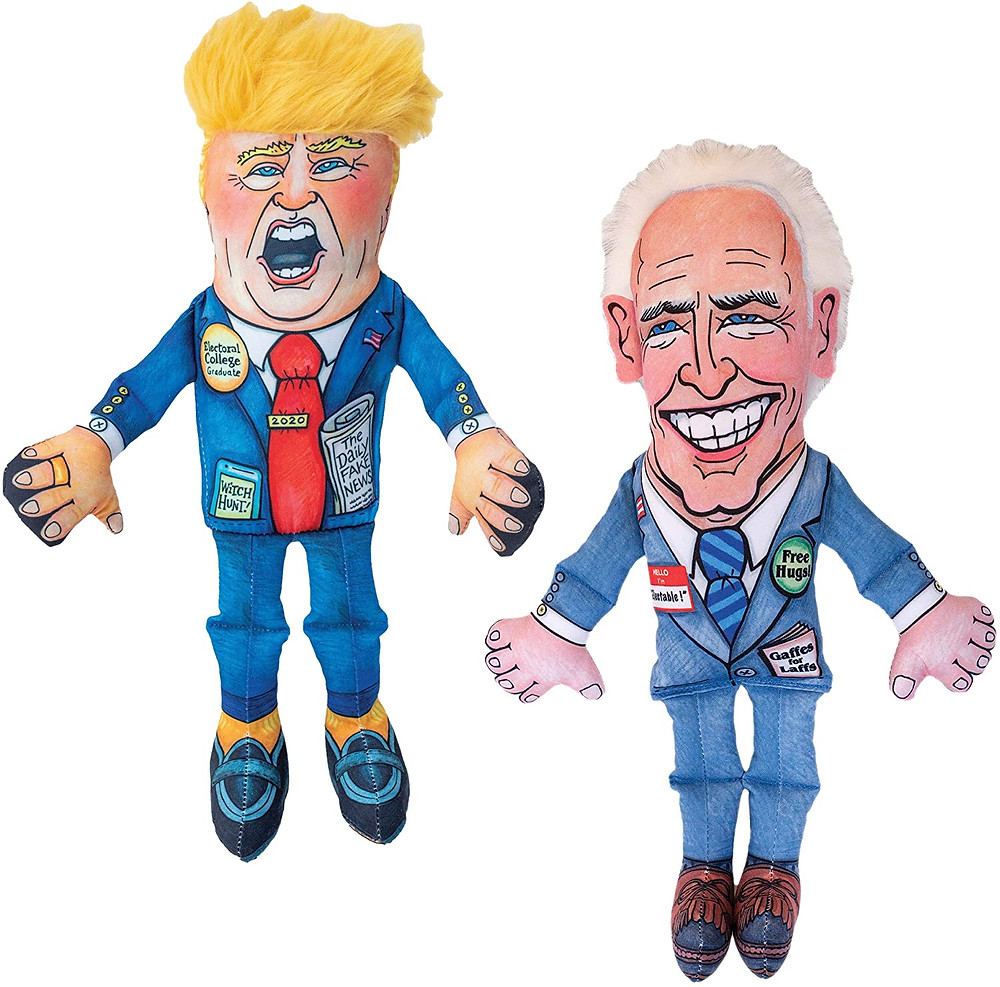 Trump and Biden Dog Toys