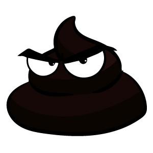 Black dog poop from internal bleeding