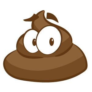 Healthy brown dog poop