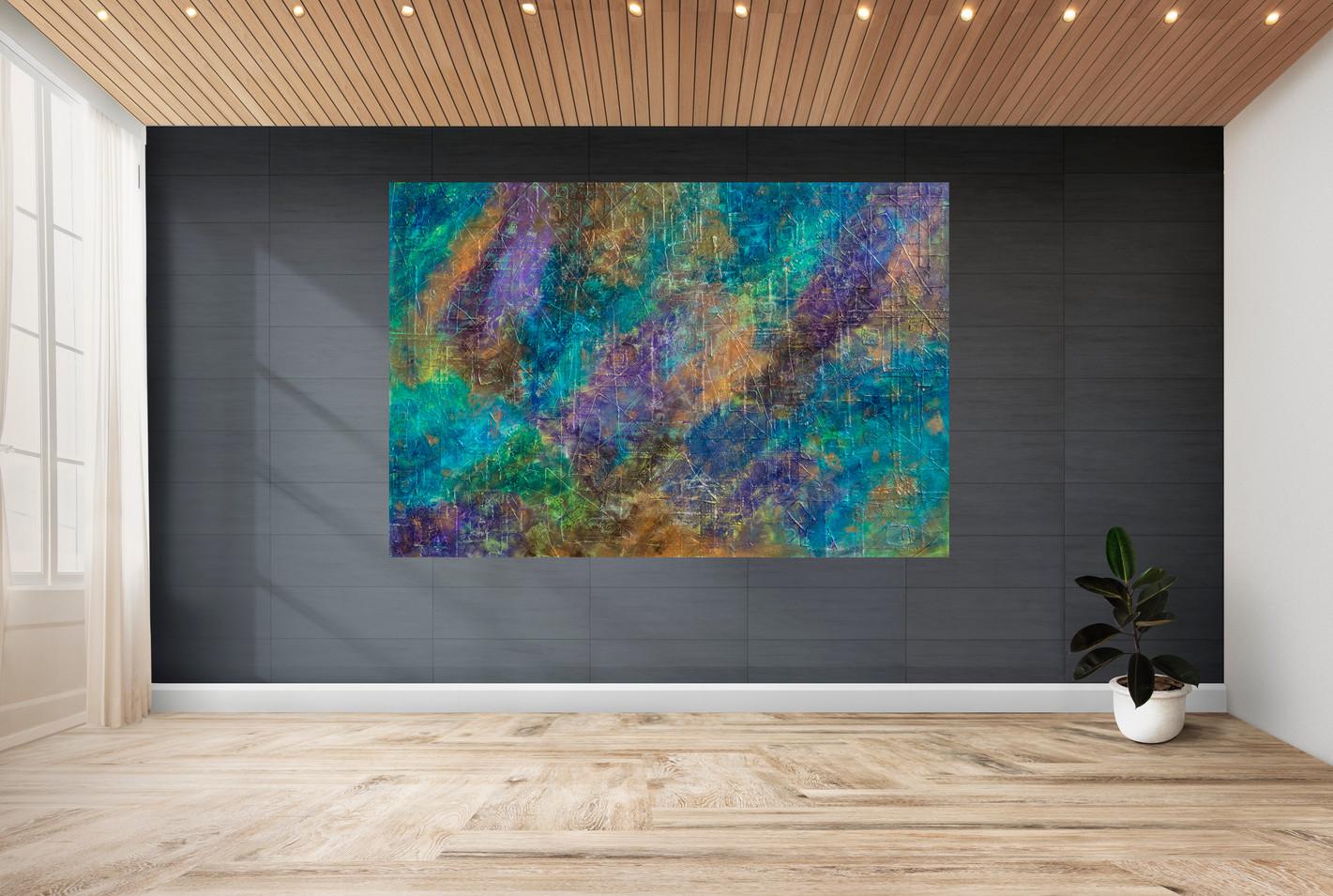 Celeste #22 | large original art in staged view