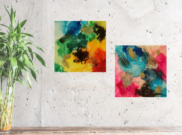 Resonance 10 x 10 in. pieces staged