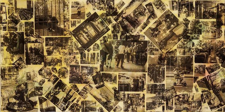 Film photography of NY City street scenes diversity collage