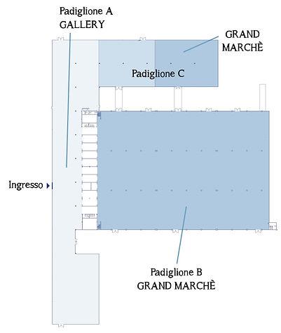 Mappa padiglioni C'era una volta... antiquariato a Cesena Fiera