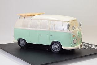birthday cake, kombi van cake