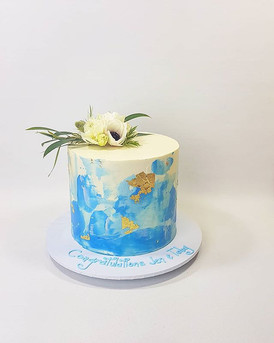 baby announcement cake in Thao from .jpg
