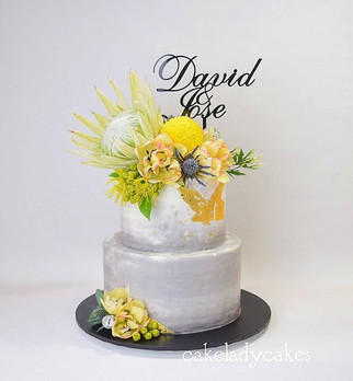 _ WEDDING __Just a gorgeous concrete buttercream wedding cake for David and José over the weekend.jpg
