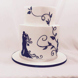 A new #silhouette for our collection #silhouettecake #cakeladycakes