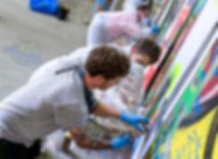 Graffiti Workshop mit Stebo für Jugend am Werk Malwerkstatt