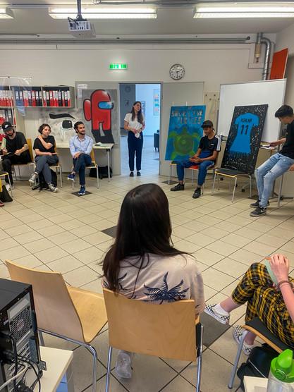 Workshop mit Jugend am Werk