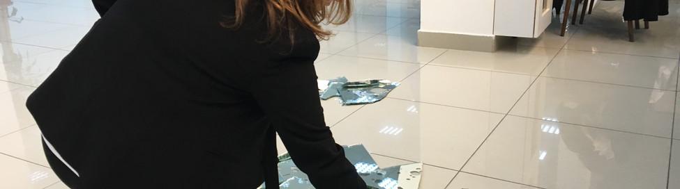 Founder of Aragil Art Foundation picks up shard