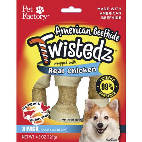 American Beefhide Twistedz Real Chicken 3pk