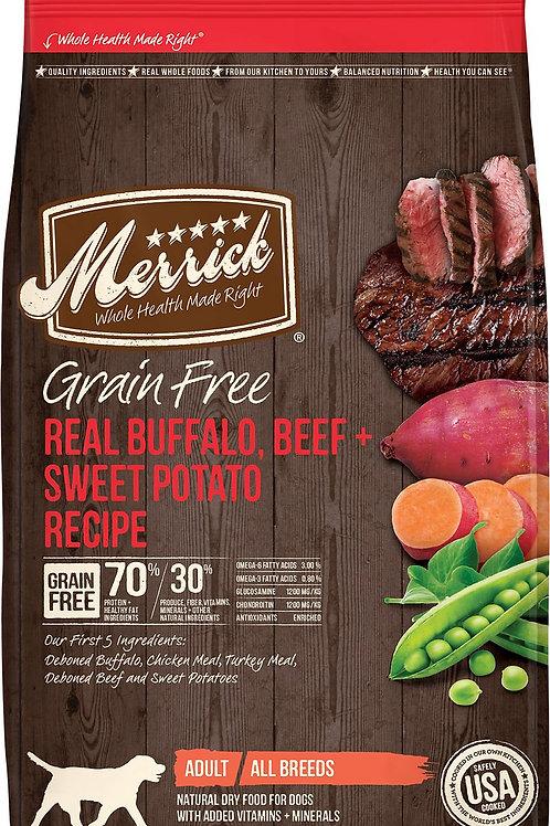 Merrick Real Bison, Beef, & Sweet Potato