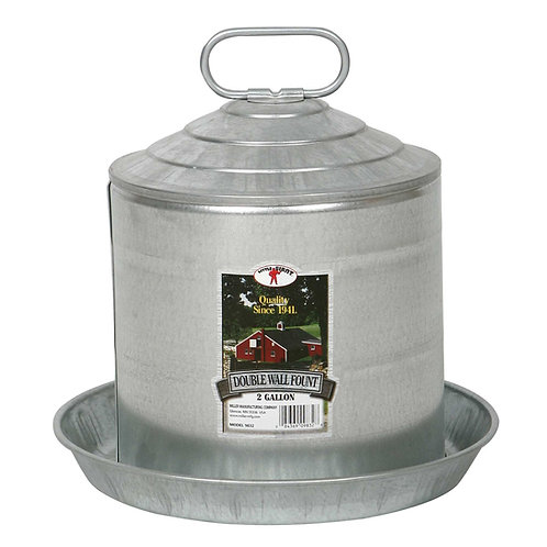 Double Wall Poultry Fount 2 Gallon