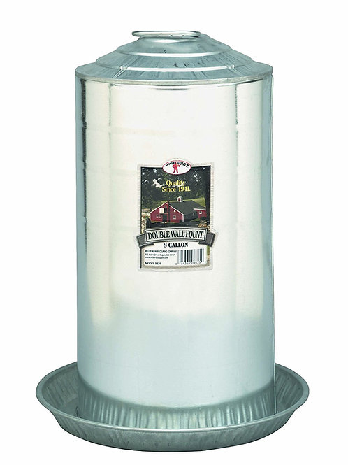Double Wall Poultry Fount 8 Gallon