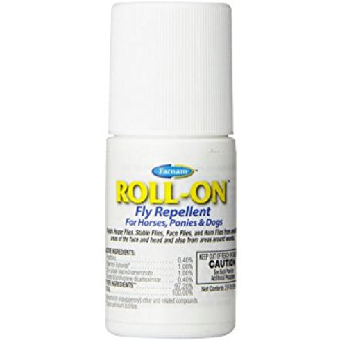 Farnam Roll-On Fly Repellent for Horses, Ponies, Dogs