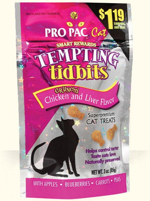 Pro Pac Tempting Tidbits Chicken & Liver 3oz