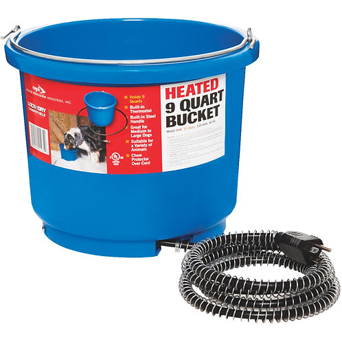 Heated Flat Back Bucket 9 Qt