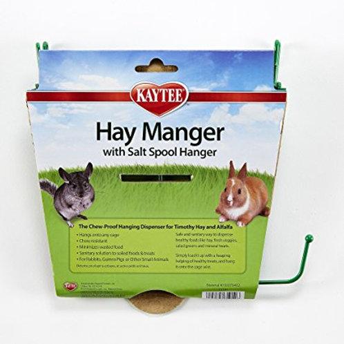 Hay Manger Feeder With Salt Spool Hanger