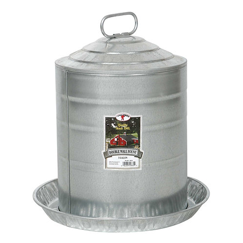Double Wall Poultry Fount 5 Gallon